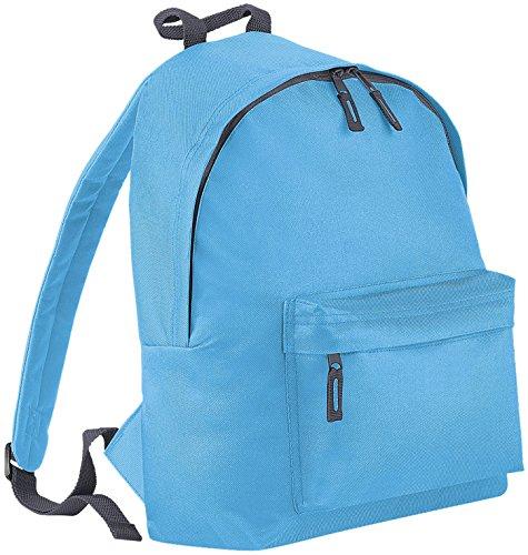 BagBase Sac à dos Junior poches avant zippées Panneau arrière rembourré poignée sac