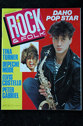 ROCK & FOLK 230 MAI 1986 COVER ETIENNE DAHO Tina turner DEPECHE MODE Elvis Costello Peter Gabriel Les Pogues