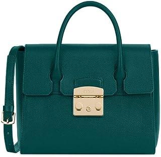 Furla Metropolis Ladies Small Green Cipresso Leather Satchel 978181