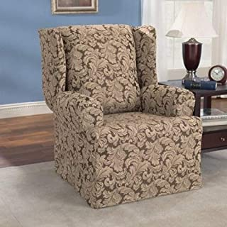 Best scroll wing chair slipcover Reviews