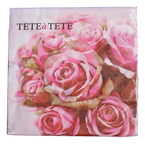 'elegant Roses–Everyday 2016- Tat–Confezione da 20tovaglioli–3PLY–33x 33cm
