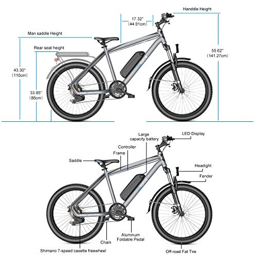 51SXQaW0bpL. SL500 G-Force Electric Bicycle, 26-Inch Mountain Electric Bicycle for Adults