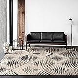 U/S AKHDT - Alfombra abstracta gris para salón, moderna,...