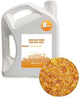Wisesorb 8LBS Premium Quality Reusable Indicating Silica Gel Desiccant Beads-Rechargeable (Orange to White)