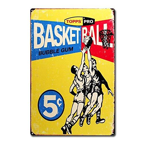 KODY HYDE Metall Poster - Basketball - Vintage Blechschilder Retro Dekoration Schild Aluminium Wandkunstplakat Zum Bar Cafe Büro Pub Wohnzimmer Garage