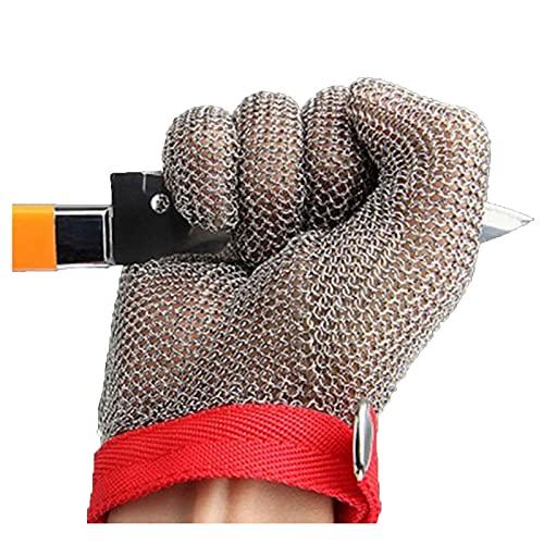Guantes anticortes Guantes de Malla de Alambre de Metal Anti-apuñalado y Anti-óxido, Guantes de Malla de Alambre de Acero Inoxidable, Carpintero de Carpintero con Sastre Guantes de Trabajo