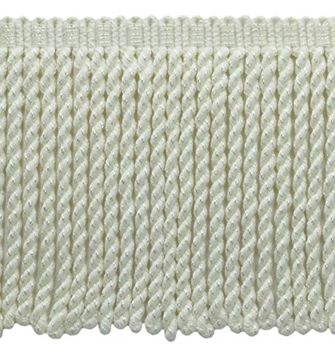 DÉCOPRO 5 Yard Value Pack - 6 Inch Long/White Bullion Fringe Trim/Style# BFSCR6 / Color: A1 - First Snow (15 Ft / 4.6 Meters)