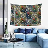 Tapiz de pared Baulred Galo de Barcelos Tapiz para decoración del hogar en 152,4 x 101,6 cm para sala de estar
