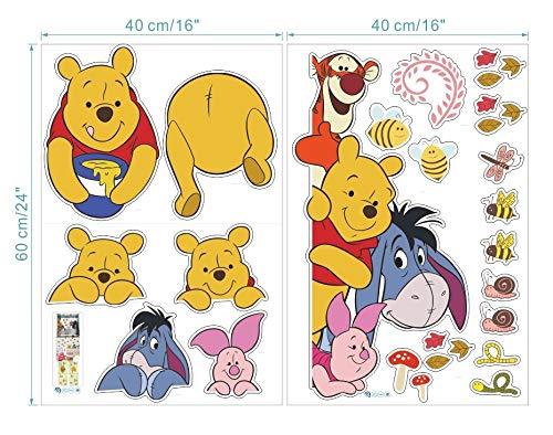 Kibi XXL Stickers Muraux Winnie l'ourson Winnie l'ourson et Amis Stickers muraux Autocollants Winnie l'ourson