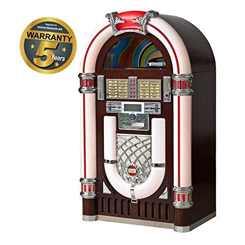 Lauson CL-130 - Jukebox de gran tamaño, grabador de vinilo al USB, lector de CD, MP3 / CD-RW