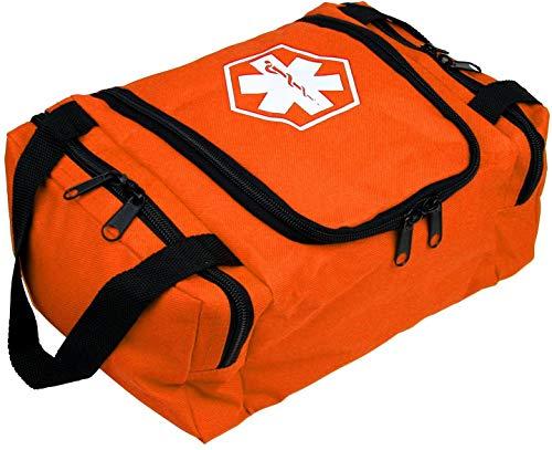 First Aid Responder EMS Emergency Medical Trauma Bag EMT, Fire Fighter, Police Officer, Paramedics, Nurse (Orange)