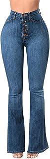 STRIR Vaqueros Talla Grande Mujer,Mujeres De Cintura Alta Pantalones Vaqueros Pantalones Largos Damas Denim Pantalones Aca...