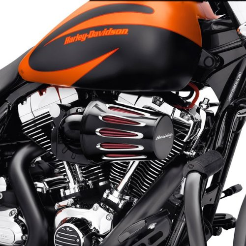 Luftfilterabdeckung schwarz Cut Black Tropfen Screamin Eagle Motorrad Harley Davidson