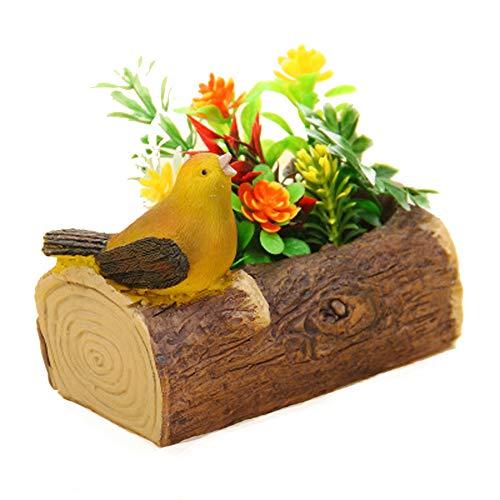 WLKDMJ Macetas de jardín, macetas de Interior,Macetas de jardín, macetas de Interior,Macetas para pájaros, Adornos de Resina, macetas de Flores suculentas, Muebles de Oficina de Estudio,-1