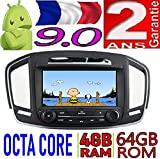 KasAndroid AUTORADIO Android 9.0 Compatible avec Opel Insignia 2014 Octa Core, 4B RAM, 64 GB ROM GPS Radio Voiture WiFi 4g CD SD DVD navigateur USB Bluetooth Mirror Link CANBUS