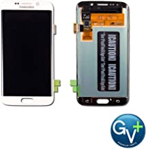 Group Vertical Replacement AMOLED Touch Digitizer Screen Assembly Compatible with Samsung Galaxy S6 Edge (White Pearl) (SM-G925) (GV+ Performance)