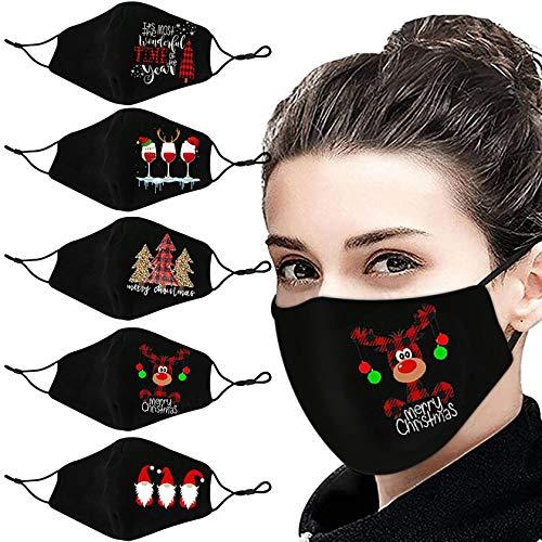 5 Stück Atmungsaktive Mundmasken Schutztuch Gesichtsschutz Schutzhülle Outdoor Schutztuch staubdicht Winddicht Mund Schal für die persönliche Gesundheit Einstellbar Sportmaske (Z)