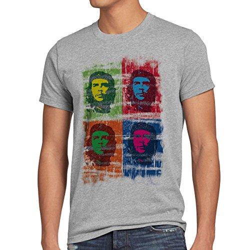 style3 Che Guevara Pop Camiseta para Hombre T-Shirt, Talla:M;Color:Gris Brezo