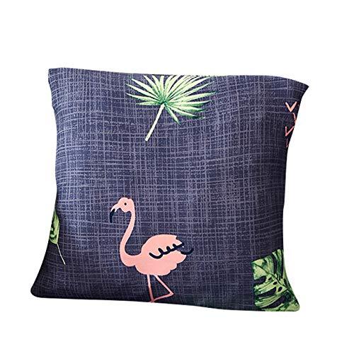 Funda para sofá con diseño moderno de 1/2/3/4 plazas, antideslizante, funda elástica para sofá y protector para mascotas, lona, Flamingo, 1pcs Pillowcase