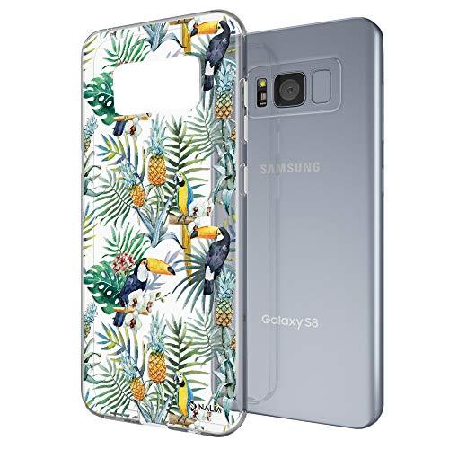 NALIA Funda Compatible con Samsung Galaxy S8 Plus, Motivo Design Movil Protectora Ultra-Fina Carcasa Silicona Cubierta, Goma Estuche Telefono Bumper Cover Phone Case, Designs:Loro