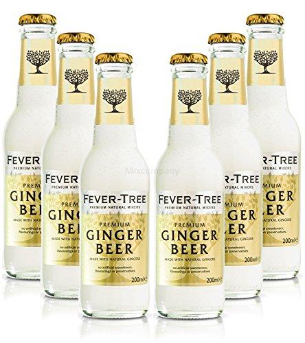 Fever-Tree Ginger Beer - 6x200ml = 1200ml - Inkl. Pfand MEHRWEG