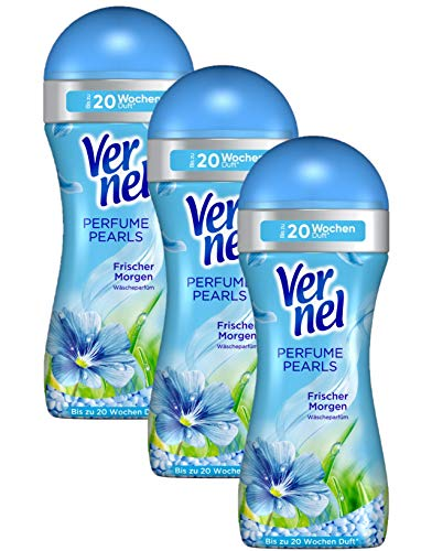 Vernel Perfume Pearls Frischer Morgen Wäscheparfüm (3er Pack (3 x 230 g) Waschmittel)