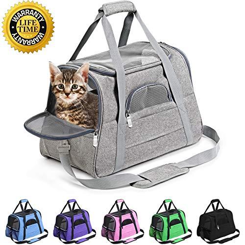 Prodigen Pet Carrier Airline Approved Pet Carrier Dog Carriers for Small Dogs, Cat Carriers for Medium Cat Small Cat, Small Pet Carrier Small Dog...