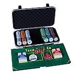 @SY Maletin Poker fichas Poker, fichas de Casino de 300, con...