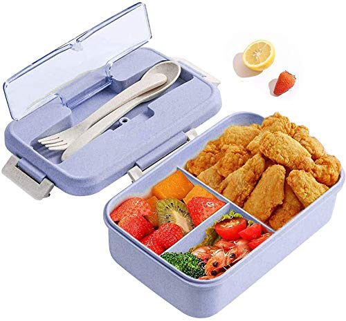 CHANGYONGXIN Box Kids, Lunch Box avec Compartiment, Boîte à Bento Enfant et Adultes, Boîte à Repas pour Chauffage au Four à Micro-Ondes