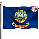 DFLIVE Double Sided Idaho State Flag 3x5ft Heavy Duty Polyester 3 Ply ID Gem State Flags Indoor and Outdoor Use