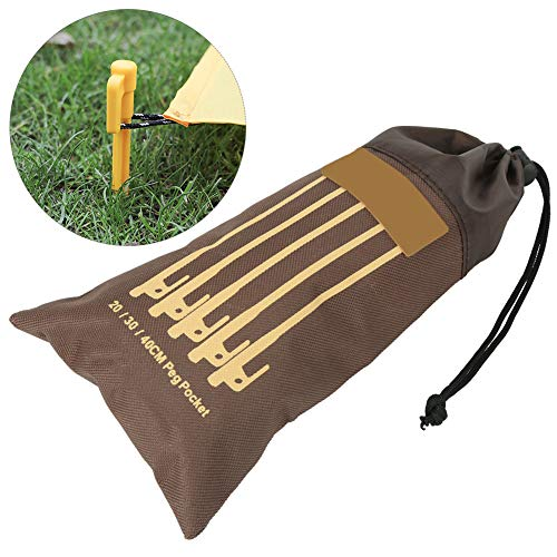 Alomejor 2pcs Camping Nail Bag Oudoor Tent Stakes HammerStorage Bag Multifunctional Tent Tools Storage Bag