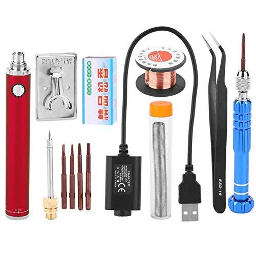 Kit de soldador, equipo de soldador para soldadura, portátil de alta temperatura para soldar joyas, placa de circuito de soldadura, reparación de electrodomésticos, aficionados al bricolaje(red)