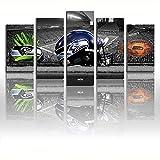 FJNS Leinwandbild Druck Super Bowl NFL Seattle Seahawks