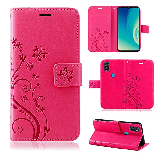 betterfon Handyhülle für ZTE Blade A7s 2020 - Hülle ZTE A7s 2020 Flip Hülle Klapphülle Schutzhülle mit [Kartenfächern] Kompatibel zu Blade A7s (2020) Pink