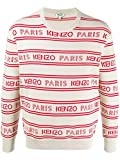 Kenzo Fashion FA55PU5063LD02 - Suéter blanco para hombre Blanco blanco talla de marca S INT