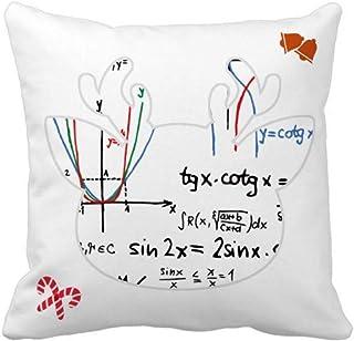 OFFbb-USA Fórmula función de agregación curva Navidad manta almohada cubierta cuadrada