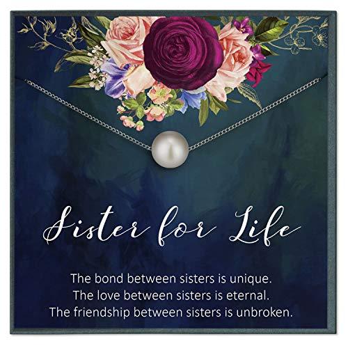 Grace of Pearl Sister for Life Joyería regalo para hermana collar regalo para hermana collar hermana cumpleaños