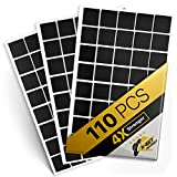 Adhesivos cuadrados magnéticos – 1 cinta magnética Flexible hoja de 110 (cada 20 mm x 20 mm x 1,2 mm) – Sticky imanes – alternativa ideal para magnético rollo, tira magnética y magnética pegatinas