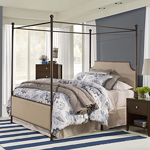 Hillsdale Furniture Hillsdale McArthur, Bronze, Frame Included Queen Canopy Bed Set