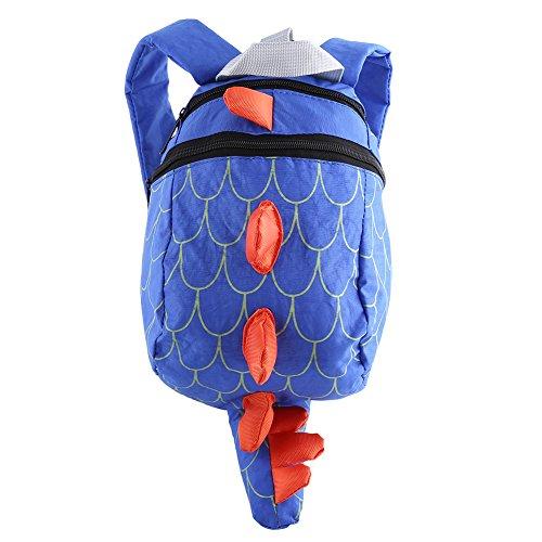 TOPINCN Kinder Rucksack Beinhaltet eine isolierte lebensmittelsichere Tasche und eine seitliche Netzwasserflasche, perfekt für die Vorschul-Tagespflege(Blue)