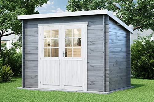 Alpholz Gartenhaus Martina-28 aus Massiv-Holz | Gerätehaus mit 28 mm Wandstärke | Garten Holzhaus inklusive Montagematerial | Geräteschuppen Größe: 300 x 200 cm | Pultdach