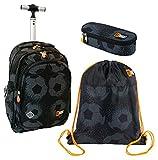 St.Right - Juego de mochila grande con ruedas con ruedas, estuche, bolsa para deporte, escuela media, elementos, chicles