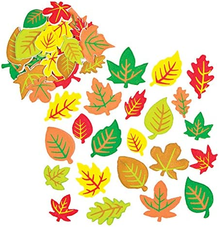 Baker Ross AF547 Leaf Foam Stickers Pack of 144 Arts and Craft Self Adhesive Perfect for Children product image