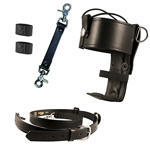 Boston Leather Bundle Three Items- Anti-Sway Strap for Radio Strap, Firefighter's Radio Strap / Belt, Universal Firefighter's Radio Holder
