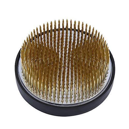 Raguso Runde Ikebana Kenzan mit Gummidichtung Art Flower Fixed Arrangieren Werkzeuge für Garten Home Decoration(80mm Diameter Copper Needle (with Sheath))
