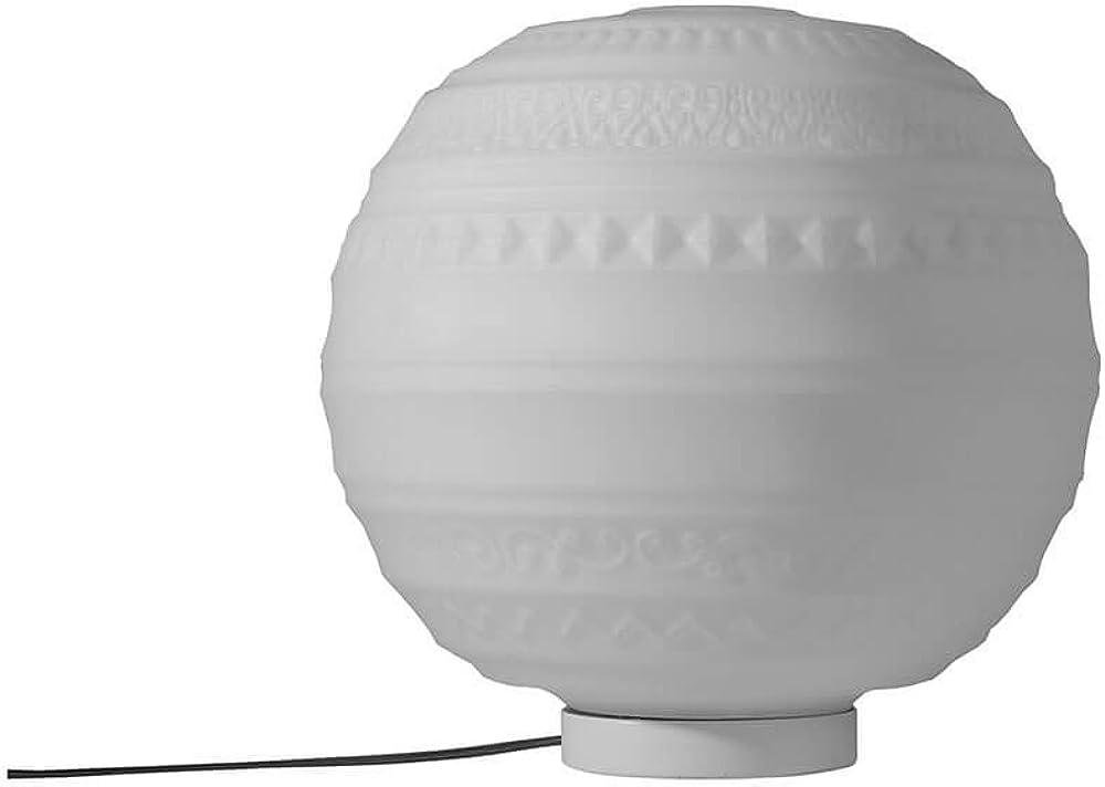 Karman braille, lampada da tavolo Ø25 cm,in vetro satinato bianco CT1441B INT