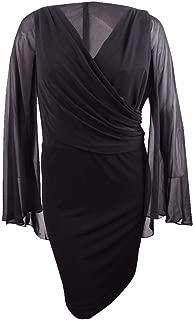 Womens Plus Short Cape Cocktail Dress