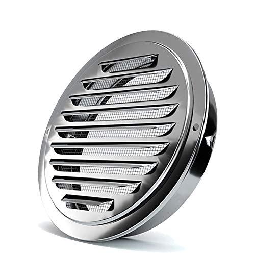 Acero Inoxidable Tubo De Humos De La Chimenea Carenado Protector contra La Lluvia Tapa Protectora Que Termina Circular De Acero Inoxidable Rejilla para Sistema De Ventilación LTL,125mm