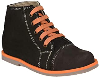 Hopscotch Tuskey Shoes Boys Leather  Coffee Lace Up Ankle Length Boot in Brown Color