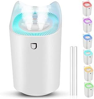Luftbefeuchter, 3L Ultra Leise USB Air Humidifier mit 7 Farben LED und 2 Sprühöffnungen, Bis zu 24-48 h Stunden Dauerbetri...